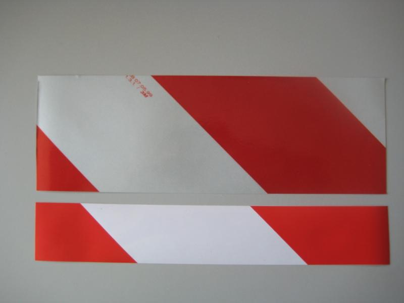 Reflectiebordje r/w 25x10cm