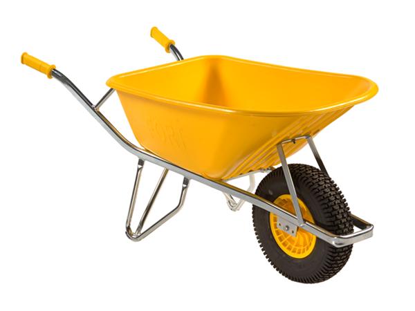 Kruiwagen 100lt geel