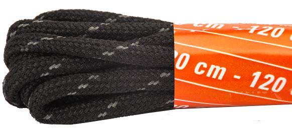 Emma veters zwart 120cm.