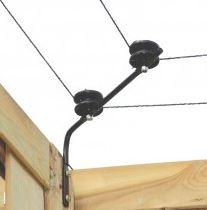Isolatorsteun tbv hoek (2st)