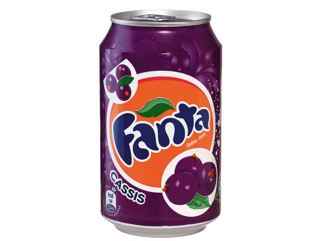 Fanta Cassis      24 blikjes/tray